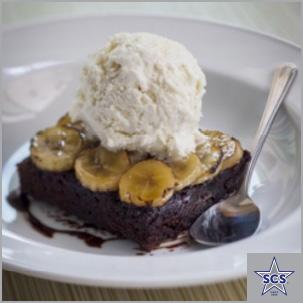 Banana Rum Brownies